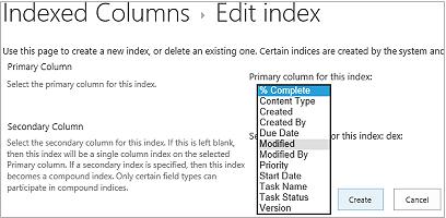 Create New Index