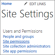 Users and Permissions