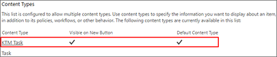 Scroll down to the Content Types