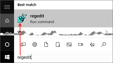 Search Regedit