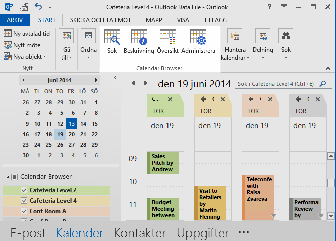 Calendar Browser Screenshot