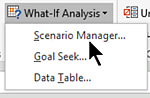 Excel What-If-Analysis tools