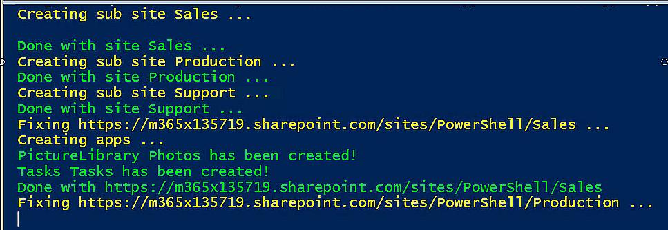 PowerShell progress messages