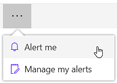 The Alert command in SharePoint