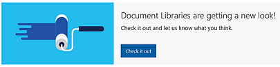SharePoint Online Check new library