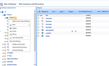 SharePoint Content and Structure