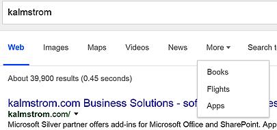Google Search Verticals