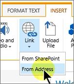 Insert link from Address