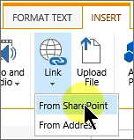 Add link from SharePoint