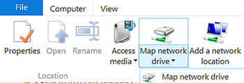 Map network drive button