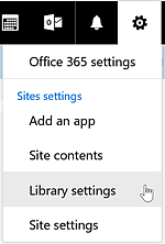 SharePoint Online Library Settings