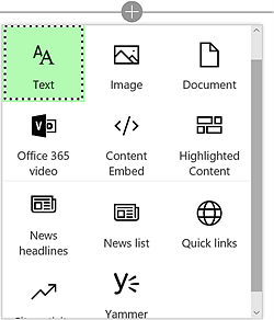 SharePoint Online new page model web parts