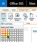 SharePoint insert table control