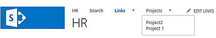 SharePoint top link bar