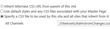 SharePoint alternate CSS