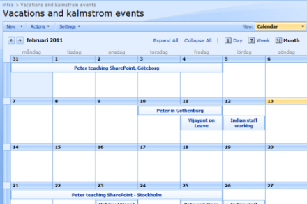 Syncronize SharePoint Tasks, Calendars and Contacts with Outlook ...