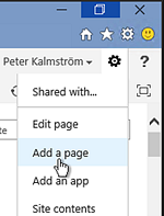 SharePoint Add page - Picture