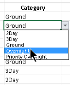 Excel list for lookup