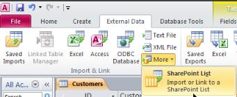 Access link SharePoint screenshot