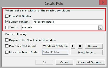 Create Rule Dialog