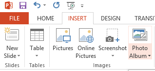 PowerPoint insert photo