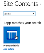 SharePoint Promoted Links- a kalmstrom com SharePoint Tip