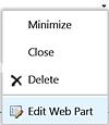 Web part selection