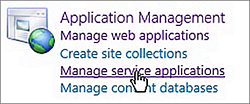SharePoint Manage Service Applications
