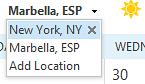 Outlook calendar weather location