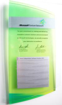 Microsoft Silver Partner plaque
