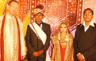 Peter Kalmstrom attended kalmstrom.com Lead Developer Jayant Rimza's wedding in Indore, India