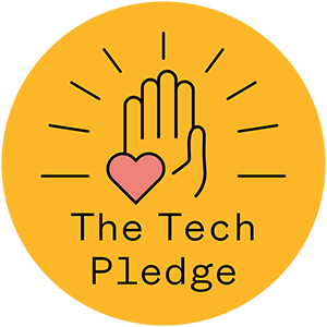 Tech pledge badge