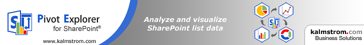 Pivot Explorer for SharePoint Lists, banner