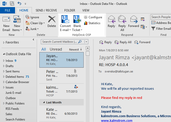 HelpDesk OSP Screenshot