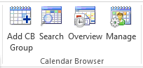 Calendar Browser ribbon group