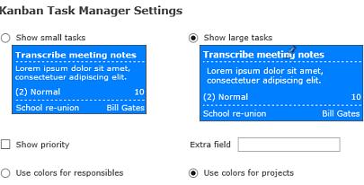 Kanban Task Manager Settings