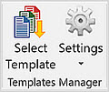 Templates Manager ribbon group in desktop Office