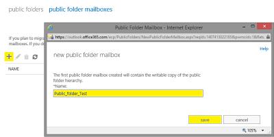 Create a public folder on Office 365 Exchange Online- a tip