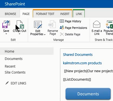 Create Image link from SharePoint site - a kalmstrom com