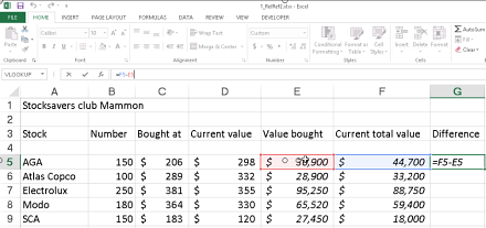 excel formulas for stocks calculations an excel tip from kalmstrom